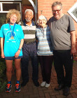 Great North Run 2016 - Diana Tottle, Zola Zembe, Dr Joyce Leeson and Jim Lewis