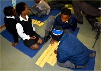 Learners engaged in group activiies