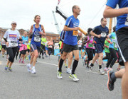 Karen Barker and Nic Suggit on great south run 2014