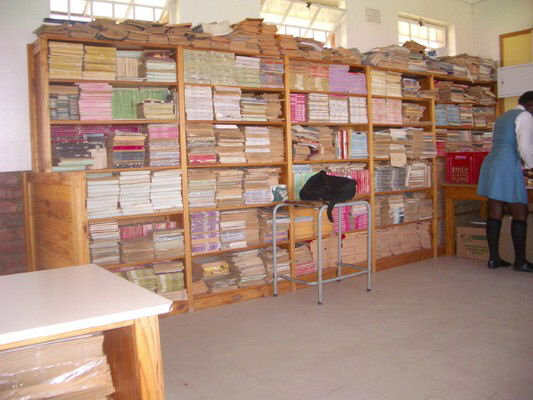Library at Elukaynanesweni HS- click to return