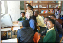 Stephany with pupils at Mabandla Primary School 2011
